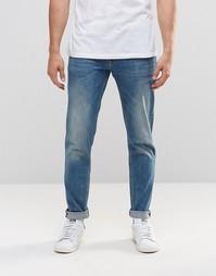 Светло-синие стретчевые джинсы слим из денима плотностью 12,5 унций AS Asos