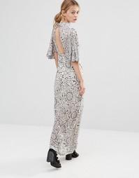Платье макси с принтом и вырезом сзади Liquorish - Принт
