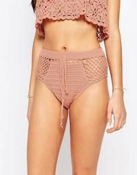 Ажурные плавки бикини с высокой талией Somedays Lovin Daphne - Peach