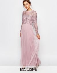 Платье макси с кружевным верхним слоем Frock and Frill