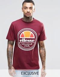 Футболка с круглым логотипом Ellesse - Burgundy