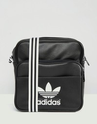 Сумка на плечо с 3 полосками adidas Adicolour - Черный