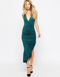 Трикотажное платье с запахом Rock & Religion - Сине-зеленый