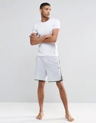Серые шорты для дома классического кроя с контрастной отделкой Hugo Bo