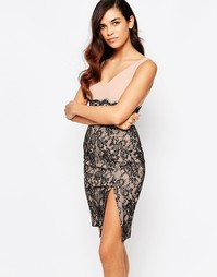Платье-футляр с кружевной юбкой Amy Childs Annabelle