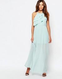 Платье макси с рюшами BCBGeneration - Небесно-голубой