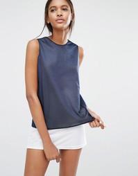 Майка с сетчатым верхним слоем Nike Premium - Синий
