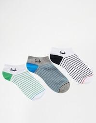 Набор из 3 пар спортивных носков в полоску Pringle - Мульти