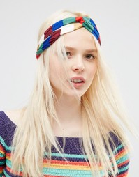 Повязка-тюрбан на голову ограниченной серии в разноцветную полоску Asos
