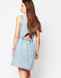 Короткое приталенное джинсовое платье Brave Soul - Деним