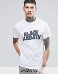 Черная футболка с принтом Reclaimed Vintage - Белый