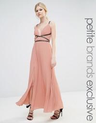 Плиссированное платье макси True Decadence Petite - Blush