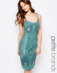 Платье миди с пайетками Maya Petite - Сине-зеленый