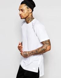 Удлиненная футболка с контрастными швами adidas Originals AJ7292