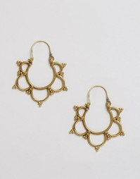 Серьги из латуни с вырезами Reclaimed Vintage - Золотой
