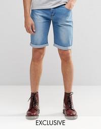 Джинсовые шорты слим цвета индиго Liquor & Poker - Индиго