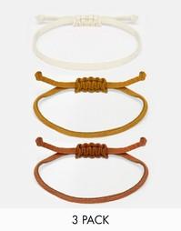 Набор браслетов-шнурков ASOS - Коричневый