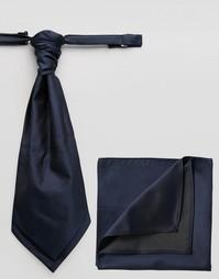 Темно-синий шейный платок и платок-паше ASOS Wedding - Темно-синий