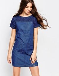 Джинсовое платье со вставками Bellfield - Mud wash