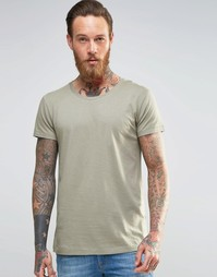 Зеленая футболка Lee Ultimate - Ветиверовый зеленый