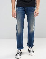 Состаренные свободные джинсы G-Star 3301 - Выбеленный посередине