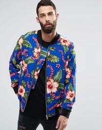 Трикотажная куртка‑пилот с гавайским принтом Religion - Гавайи