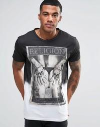 Футболка с принтом Religion - Белый