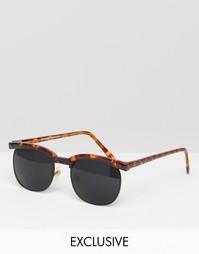 Солнцезащитные очки в стиле ретро Reclaimed Vintage - Коричневый