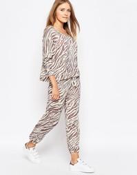 Спортивные штаны с тигриным принтом Sundry - Теплый серый