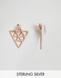 Серьги из позолоченного серебра ASOS - Розовое золото