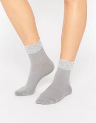 Носки с полупрозрачной вставкой 7X - Серый прозрачный