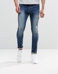 Синие джинсы скинни из денима плотностью 12,5 унций ASOS