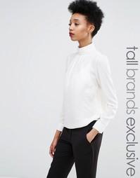 Блузка с высоким воротником Y.A.S Tall - Белый