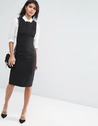 Структурированное платье миди ASOS - Черный