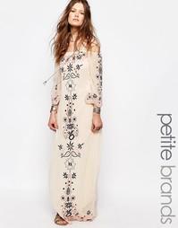 Платье макси с вышивкой Glamorous Petite - Кремовый