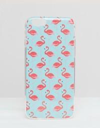Чехол для iPhone 6 с принтом фламинго - Синий Signature