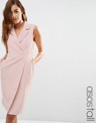 Платье-смокинг без рукавов ASOS TALL - Телесный