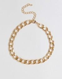 Ожерелье-цепочка под горло ASOS - Золотой