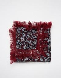 Платок для нагрудного кармана с принтом пейсли и бахромой ASOS