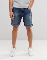 Выбеленные джинсовые шорты Esprit - Синий деним