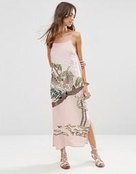 Платье-сорочка ASOS PREMIUM Ocelot - Розовый