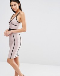 Облегающее платье с контрастной отделкой Missguided