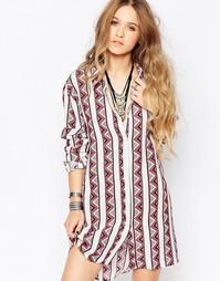 Фестивальное платье‑рубашка Glamorous - Мульти