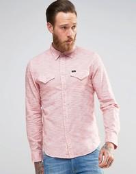 Полосатая рубашка зауженного кроя в стиле вестерн Lee - Красный