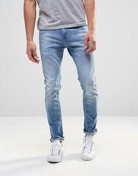 Супероблегающие голубые джинсы Lee Malone - Пляжный голубой