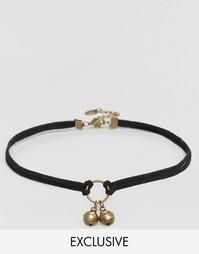 Ожерелье-чокер с колокольчиками Reclaimed Vintage - Коричневый