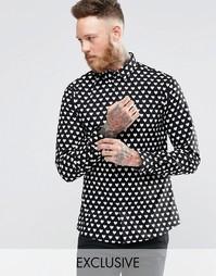 Рубашка в сердечко Noose & Monkey - Черный