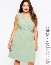 Платье с запахом Lovedrobe Plus - Мятный