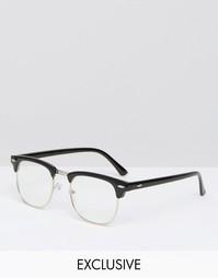 Очки в стиле ретро Reclaimed Vintage - Черный