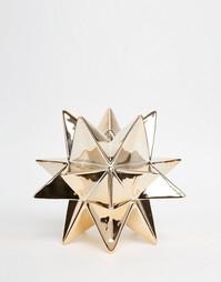 Золотистая подставка для свечи в виде звезды Temerity Jones - Мульти